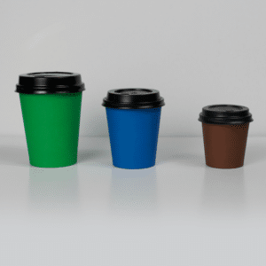 Couvercle plastique non bio pour gobelet en papier