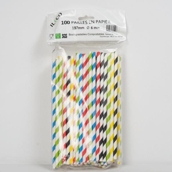 Pailles en papier non emballées
