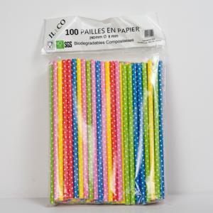 Pailles en papier non emballées XL
