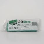 Sacs poubelles vert 20 L
