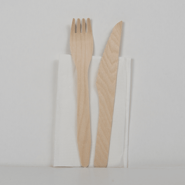Set couteau, fourchette, serviette